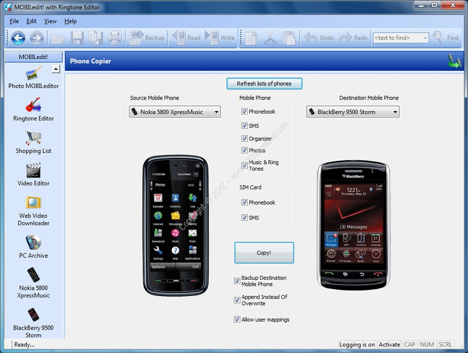 MOBILedit! v9.0.0.21797 + Drivers Pack + Phone Copier v7.5.1.4181 Crack