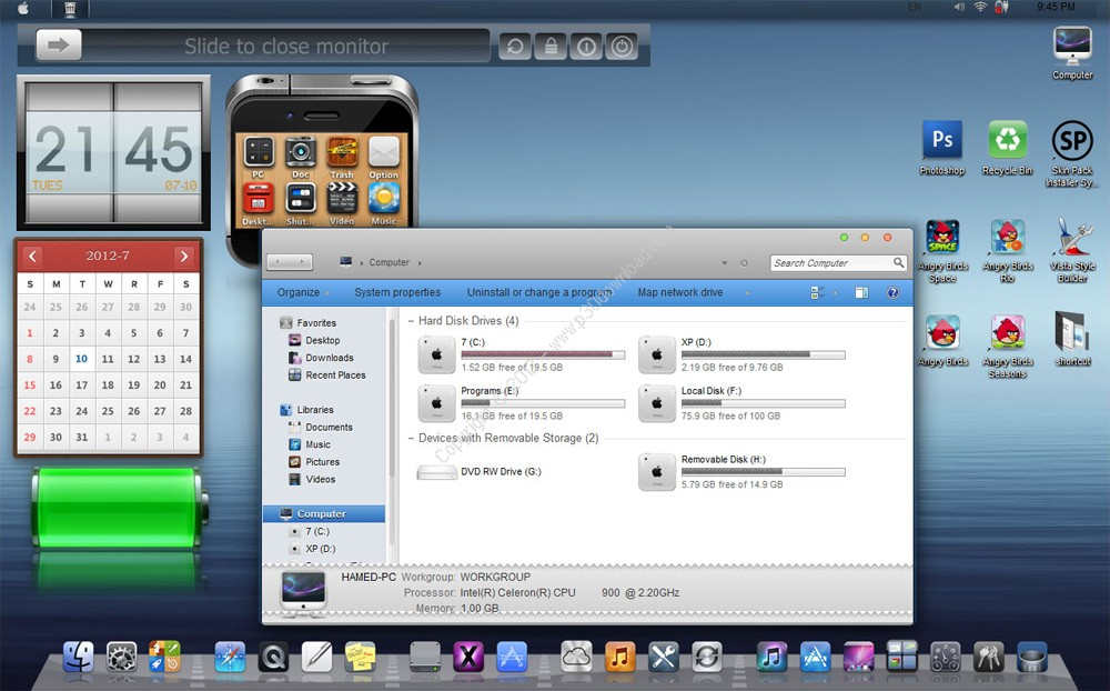 iOS6 Skin Pack v3.0 for Windows 7 x86/x64 Crack