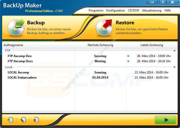 BackUp Maker Professional Edition v7.300 Crack