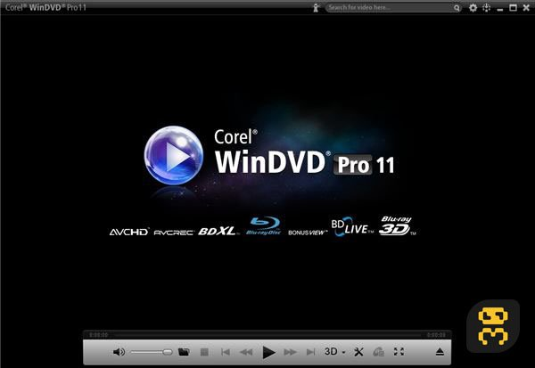 Corel WinDVD Pro 12.0.0.66 SP2 - Powerful Video Player