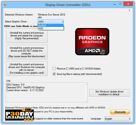 Display Driver Uninstaller 17.0.8.6 - Completely Remove The Graphics Card Driver Crack