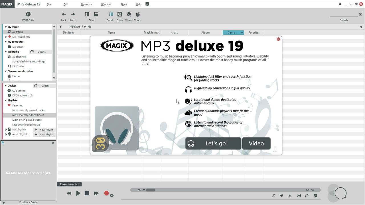 MAGIX MP3 Deluxe 19.0.1.48 - Manage And Edit MP3 Files Crack