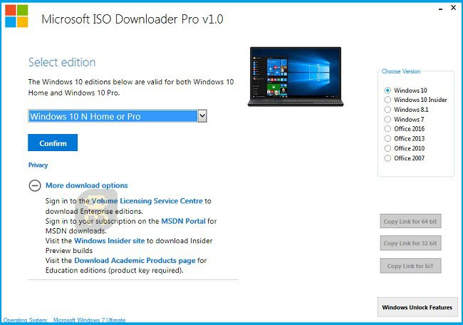 Microsoft ISO Downloader Pro 1.8 - Windows Image Software Crack