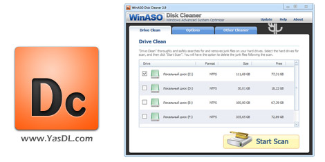 WinASO Disk Cleaner 3.0.0 + Portable